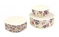 Emma Bridgewater Wallflower Set of 3 Melamine Storage Containers